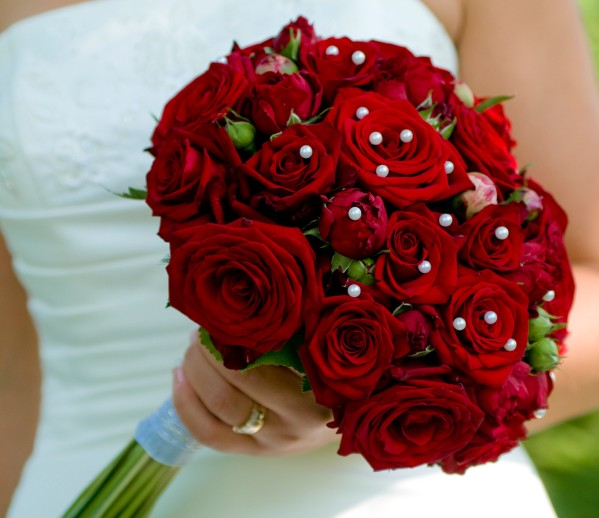 Malta Wedding Inspirations Red Roses Bouquet