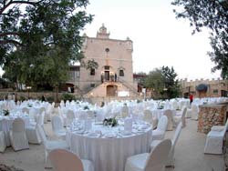 Wedding Dinner Setup at Castello Nobile