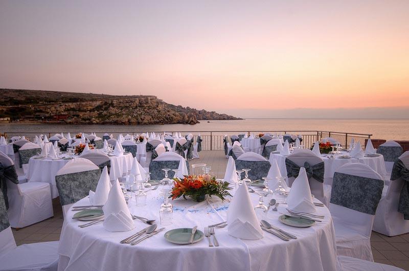 Maltinero Beach Malta Wedding Venue